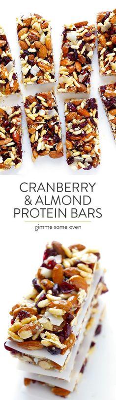 Cranberry Almond Protein Bars Recipe | healthy recipe ideas @xhealthyrecipex | snacks