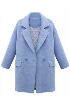 Glamorous Lapel Thermal #Woolen #Coat - OASAP.com
