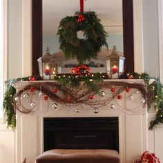 Flipping through our Christmas mantel decorations ideas is the perfect way to get started on your Christmas fireplace decor. Christmas Fireplace, Christmas Mantels, Noel Christmas, Merry Little Christmas, Winter Christmas, All Things Christmas, Christmas Crafts, Christmas Design, Rustic Christmas