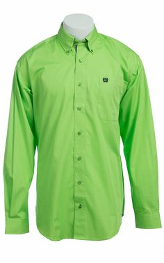 Cinch L/S Mens Solid Fine Weave Shirt 1103770 Western Apparel, Western Shirts, Western Outfits, Western Wear, Work Shirts, Men Clothes, Men's Apparel, Denim Shirt, Jean Outfits