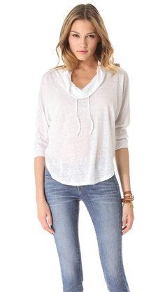C California  Cowl Sweatshirt  $78.00