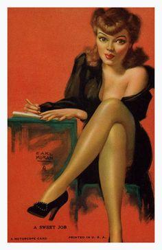 Pin Up Girl Poster 11x17 mutoscope card blonde ballet ballerina burlesque dancer