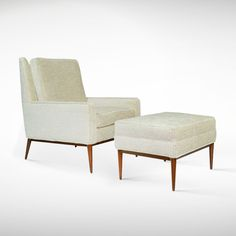 Paul McCobb for Directional Lounge Chair and Ottoman | From a unique collection of antique and modern lounge chairs at www.1stdibs.com/...