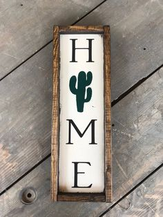 Home sign vertical sign southwest decor framed farmhouse