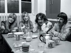 The Beatles and their partners in Bangor, Wales, on a 10-day retreat with the Maharishi Mahesh Yogi
