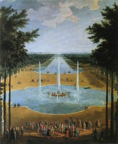 The Bassin d'Apollon at Versailles as it appeared in 1713.