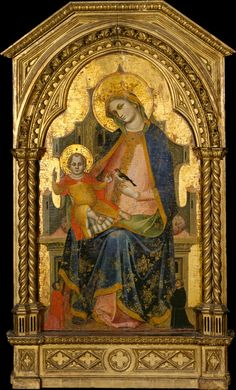 Lorenzo Veneziano (Italian, Venetian, active 1357–72): Madonna and Child Enthroned with Two Donors (MET, NYC)
