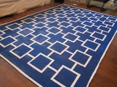 DIY painted rug tutorial