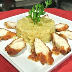 Mom, What's For Dinner?: Parmesan Crusted Chicken with Garlic Herb Risotto