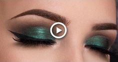 For a night out where drama and sophistication are the watchword, a smoky eye look could be just the thing. It doesn't take a makeup artist to do this, either; here's how to create smoky eyes with the makeup most people have at home. Brown Smokey Eye Makeup, Silver Smokey Eye, Smoky Eye Makeup Tutorial, Green Smokey Eye, Halo Eye Makeup, Eye Makeup Cut Crease, Glitter Eye Makeup, Makeup Eyebrows, Green Eyes Pop