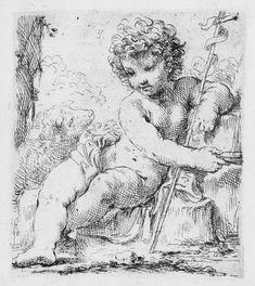 Simone Cantarini (1612-1648). San Giovannino, 1635/36, Acquaforte