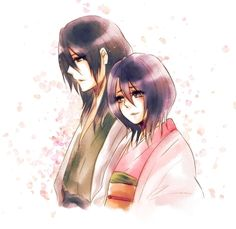"Byakuya and Hisana of ""Bleach"""