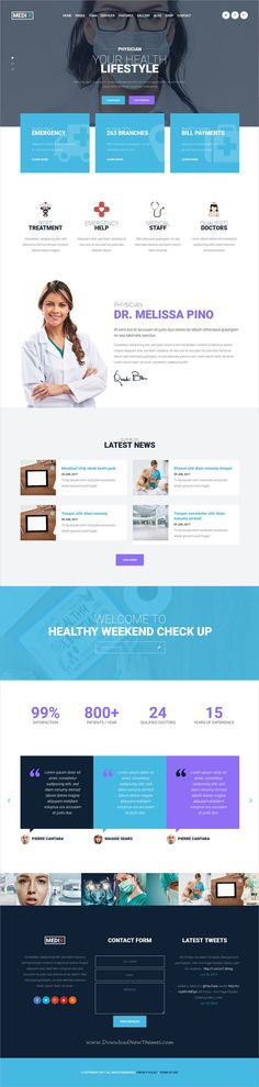 Medix is clean and modern design 7in1 responsive #WordPress theme for stunning #physician #medical, clinic, hospital or healthcare centers website download now..