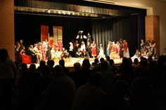 "A pic from the fall show - ""The Greek Gascon Moorish Bangkok Murder Mystery of Death!"" Written by ... well, me.  Take four plays that you already have costumes for, a desire for students to know the plots of those four plays, a heavy dose of humor ... and you get this.  Turned in to get published about a week ago.  I hope to hear before summer gets here whether they take it or not ..."