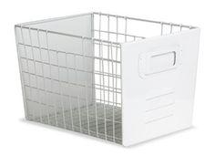 white wire basket