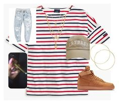 """itsthebugg"" by myaturner40 on Polyvore featuring Saint James, NIKE and OneTeaspoon"