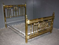 Best 19Th C French Style Brass Bed Albert Phillips Excelsior 400 x 300