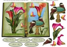 Book of Nature Topper with DEcoupage on Craftsuprint - Add To Basket!