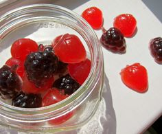 homemade fruit gummy snacks -- only two ingredients