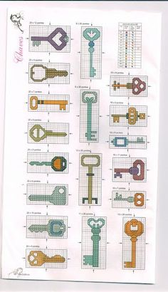 keys -- good for stitching, doodling, fondant and polymer clay... key inspiration!