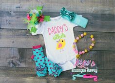 Girls Easter Outfit Daddy's Other Chick by LulusBowtiqueSupply2