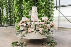 Photographer: Erin Cynthia Photography | Event Venue: Beyond Organic Growers | Design and Decor: All Things Possible Events Green Wedding, Floral Wedding, Wedding Day, Allure Bridal, Bridal Beauty, Sustainable Wedding, Strictly Weddings, White Backdrop, Rose Cake