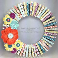 SHARING CREATIVITY and COMPANY: Mother's Day (and More) Clothespin Wreath