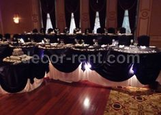 DECOR-RENT.COM - Black and White Head Table Decor.