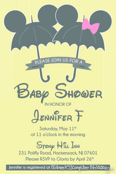 Disney Baby Shower Invitation @Mel Smith for when you have a baby!!
