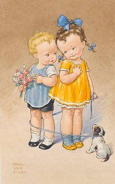 Borboleta Azul: Ilustrações de Mabel Lucie Attwell