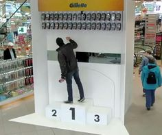 German shoppers surprised by Gillette Olympic stunt. And the winner is...