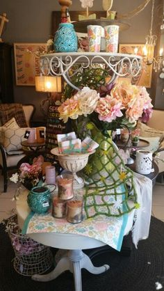 Spring Display - Rio Shop Displays, Spring Garden, Rio, Table Decorations, Create, Home Decor, Decoration Home, Room Decor, Dinner Table Decorations