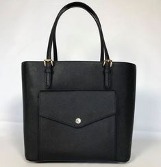 NWT Michael Kors Large Black Saffiano Leather Tote Bag Handbag $268.00 #MichaelKors #TotesShoppers
