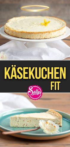 Hallo meine Lieben,  leckerer Käsekuchen mit Magerquark und Skyr 😍 Skyr ist ein traditionelles isländisches Milchprodukt, welches in Deutschland als fettarmer Frischkäse in Magerstufe angeboten wird. Der Kuchen ist blitzschnell ohne Küchenmaschine in nicht mal 5 Minuten zubereitet und super cremig und lecker 😘 Außerdem ist er sehr reich an Protein und ohne weißen Zucker 😍  Viel Spaß beim Nachbacken! 😘  #sallyswelt #protein #käsekuchen #cheesecake #fit #fitvsfat #sallys #kuchen #cake… Healthy Cake, Healthy Food, Healthy Recipes, Protein Cheesecake, Cheesecakes, Bakery, Cupcakes, Sweet, Desserts