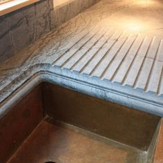 Soap stone counters with built in drain board