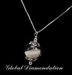 Sands of time filled glass globe necklace by GlobalDiamondation, $24.00