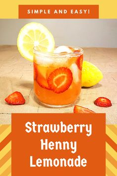 Then this cocktail recipe book is for you! is a free cocktail recipe book. Alcoholic Punch Recipes, Alcohol Drink Recipes, Cocktail Recipes, Alcoholic Beverages, Strawberry Henny Recipe, Strawberry Drink Recipes, Hennessy Cocktails, Henny Drinks