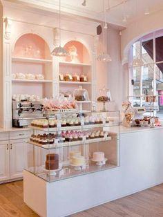 Restaurant & Bar Design Awards 2011 - Peggy Porschen (London) / Lifeforms Love the open cabine Bar Design Awards, Bakery Cafe, Bakery Shops, Bakery Kitchen, Tart Bakery, Bakery Design, Cafe Design, Cake Shop Design, Bakery Interior Design