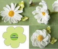 Das E-book besteht aus bebilderter Anleitung zum Häkeln von zwei Arten von Kamillen mit Blättern. Damit können Sie Kamillen häkeln zum dekorieren des Hauses, zum basteln oder verschenken. Es wird in der Häkelanleitung erklärt: +-einschichtige Kamille, -zweischichtige Kamille, -Blatt klein, -Blatt groß, -Stängel, -Blütenboden+ Die Blume Nr. 1 ist ca.8 cm (mit Blätter 11 cm) in Durchmesser. Die Blume Nr. 2 ist ca. 10 cm (mit Blätter 13 cm) in Durchmesser. Folgende Häkelkenntnisse sollten…