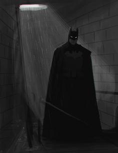 "doodlesaresketcheswithnoodles: ""A Batman I drew last night to make myself feel better after a crappy day. (in the style of my Batman: Sewers fan comic thingy) "" Batman Poster, Batman Artwork, Batman Wallpaper, Batgirl, Catwoman, Im Batman, Batman Stuff, Arte Yin Yang, Hq Dc"