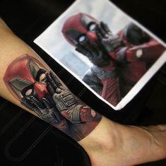 Which tattoo do you enjoy most 1-4? Work by @nikkohurtado ____________________#legtattoo#realistictattoo#portraittattoo#tattoo#tatoo#tattoos#tattooed#tat#tats#tatted#inked#tatuagem#тату#tatuaje#tatuajes#tatuaggio#tatouage#tattoolife#ink#inked#instatattoo#tattoolove#tattooing#tattoooftheday#tattooart#tattooartist#tattooist#tattooer#bodyart#deadpool | Artist: @theartoftattooingofficial
