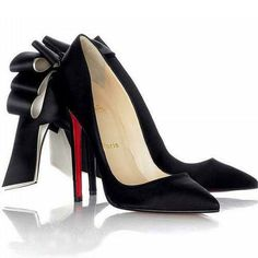 Christian Louboutin Anemone Satin Evening Black