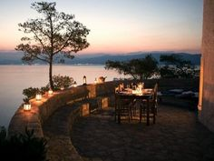 Sunset dinner at The Windmill villa on the gorgeous island if Hydra