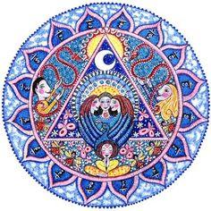 5th Chakra Mandala Art Print  Vishuddhi  Throat by LindyLonghurst, $18.00