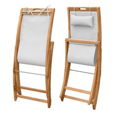 Sling Chair - Teak Folding Deck Chair - Harborside Beach Chair - Country Casual