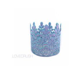 NEW    Chameleon Mermaid lace crown    Sage   lavender + aqua    photo prop