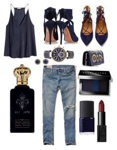 """Untitled #110"" by yo-super-fanky on Polyvore featuring H&M, Hollister Co., Aquazzura, Emilio Pucci, Michael Kors, Bobbi Brown Cosmetics, Clive Christian and NARS Cosmetics"