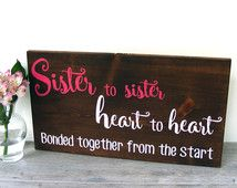 Sister Decor - Girl Room Decorations - Girl Nursery Decor - Twin Girl Gift…