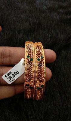 Gold Bangles Design, Gold Earrings Designs, Bracelet Designs, Jewelry Design, Bangle Set, Bangle Bracelets, Coral Jewelry, Silver Jewelry, Designer Earrings