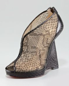 Love this: Janet Python and Lace Wedge @Lyst